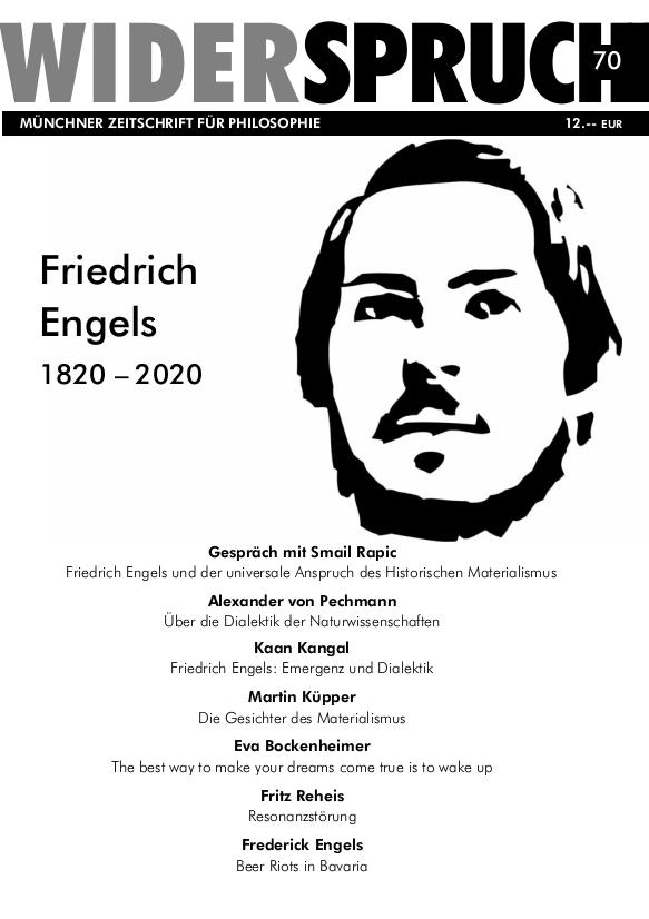 Cover Heft 70: Friedrich Engels. 1820 - 2020.